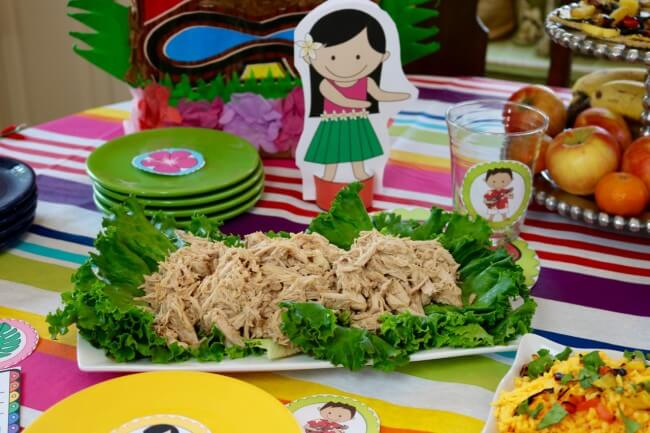 Incredible Party Tutorial plus 50 Page Hawaiian Luau Party Pack and an easy Hawaiian Grilled Summer Vegetables Recipe