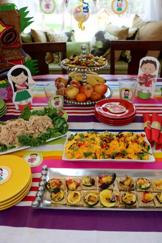 Tasty eats with this 50 Page Hawaiian Luau Party Pack and Hawaiian Luau Party Tutorial plus an easy Hawaiian Grilled Summer Vegetables Recipe