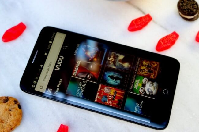 Access VUDU movies on the ALCATEL onetouch Fierce XL