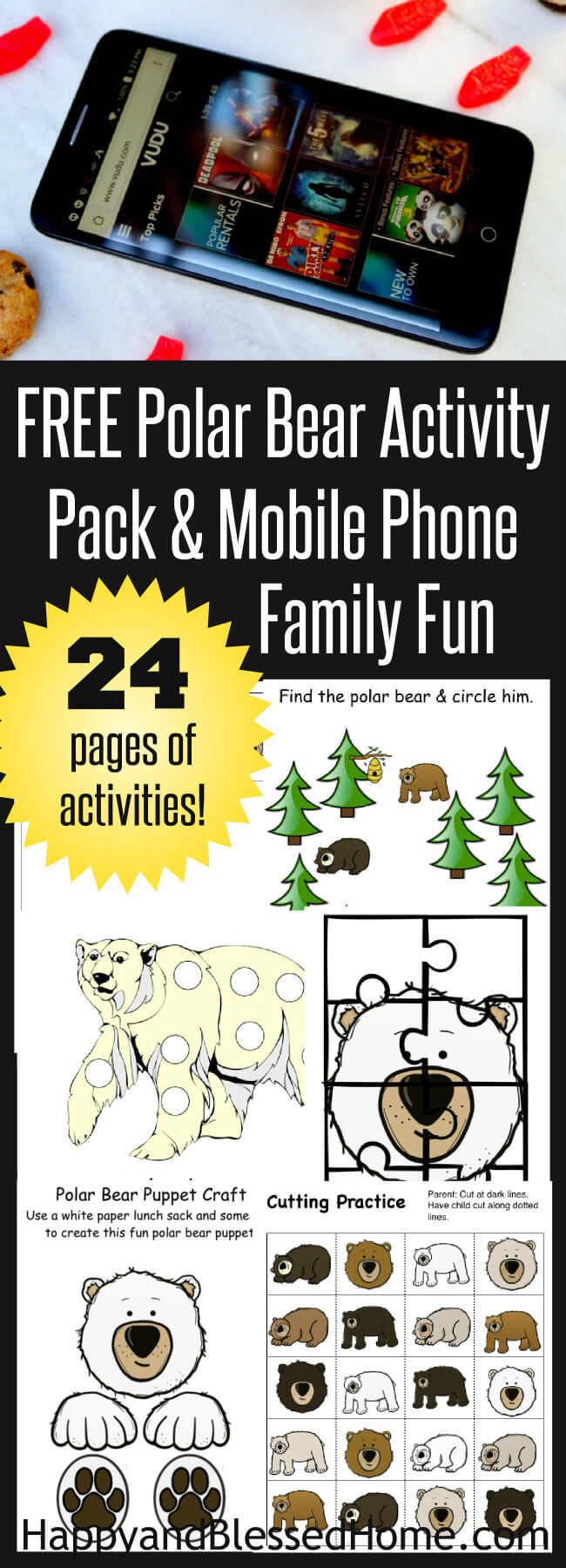 Polar Bear Activity Pack and Mobile Phone Family Fun
