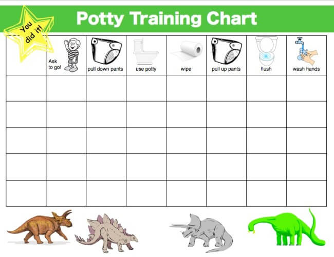 Example Chart from My #1 Potty Training Tip to Avoid Skid Marks