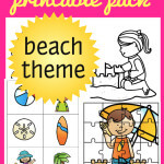 30 FUN Beach Theme Activities Printable Pack