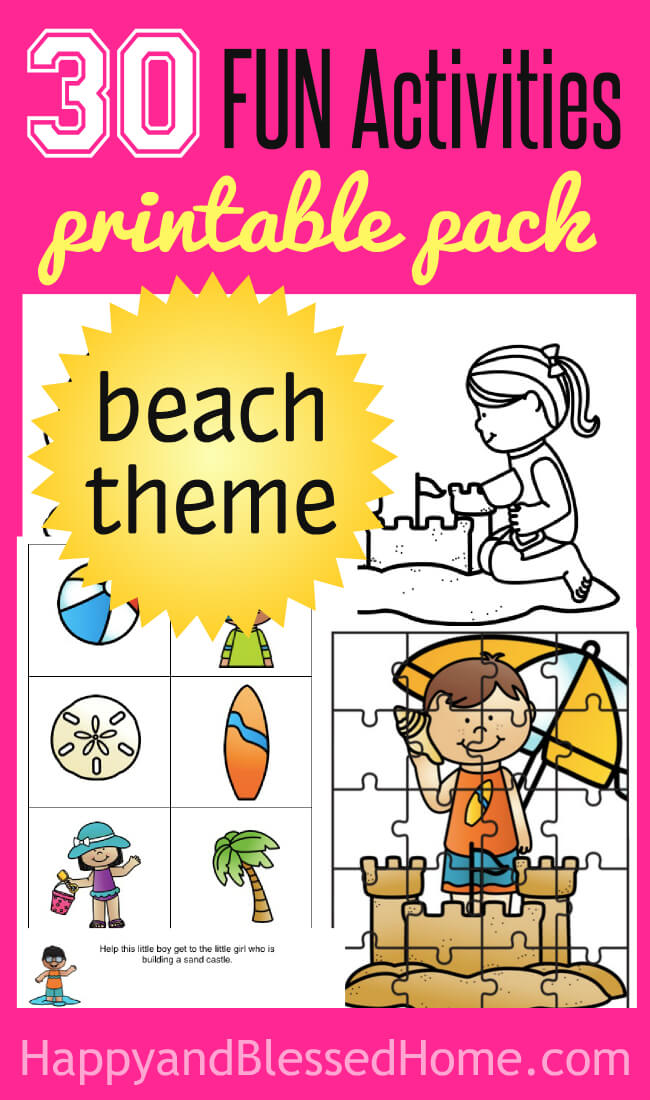 Beach Activity Pack from HappyandBlessedHome.com