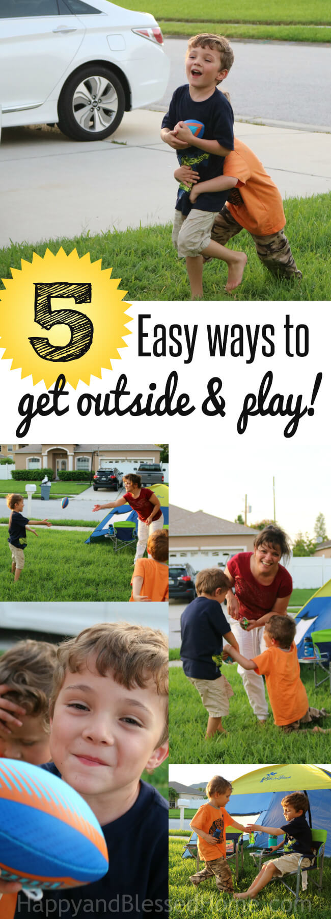 5 Easy Ways to get outside and PLAY