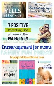 Encouraging moms on family fun friday