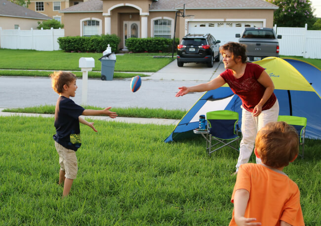 Have fun with a game of catch