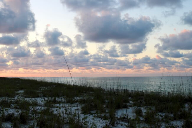 The Beach at 5 AM - Photo copyright 2016 HappyandBlessedHome.com