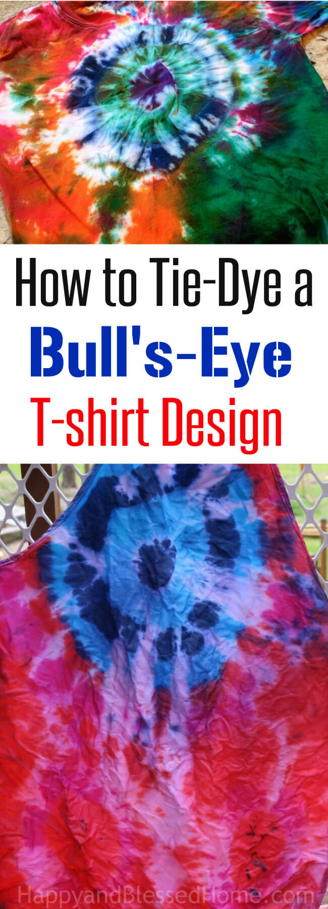 Simple Turtorial on How to Tie-Dye a Bull's-Eye T-shirt Design
