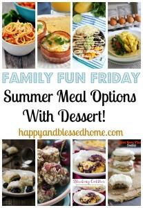 Summer Meals with Dessert