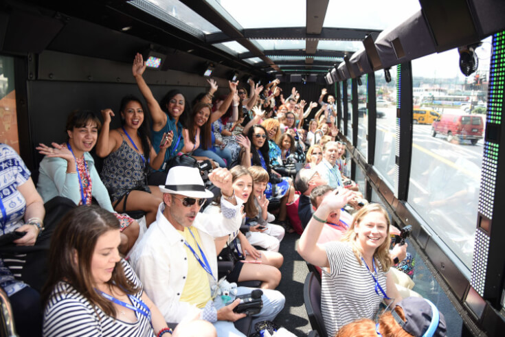 Blogger Bash Attendees on The Ride through New York City 2016