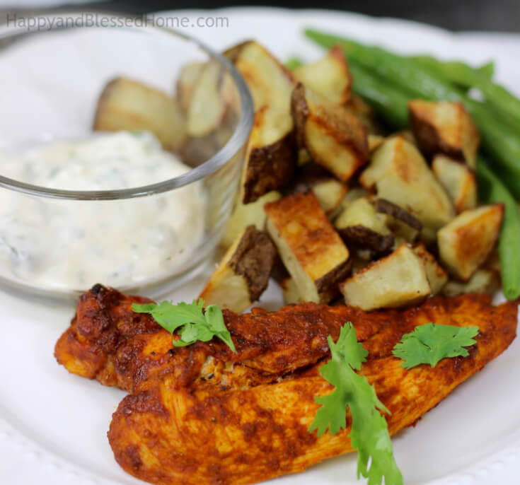 Blue Apron Peruvian Roast Chicken and Potatoes by HappyandBlessedHome.com