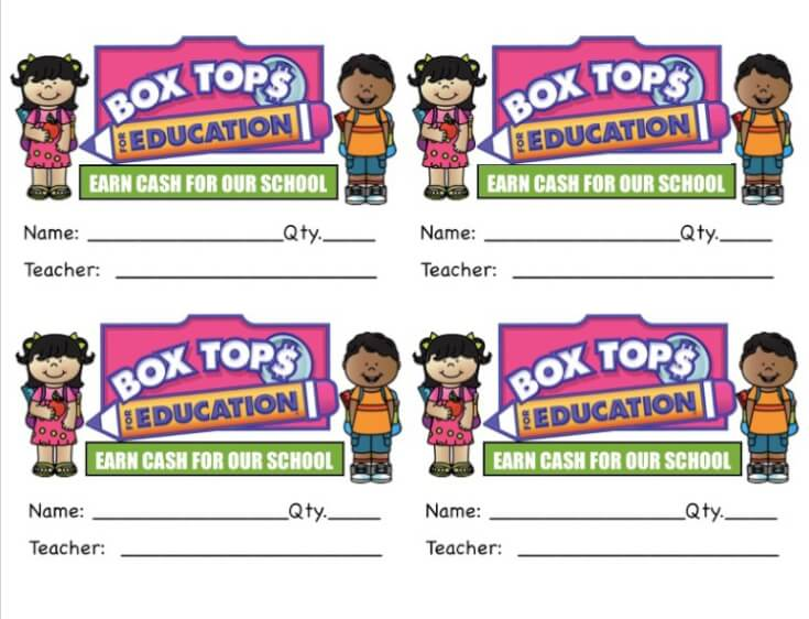 Clip Box Tops and Earn Cash for Schools