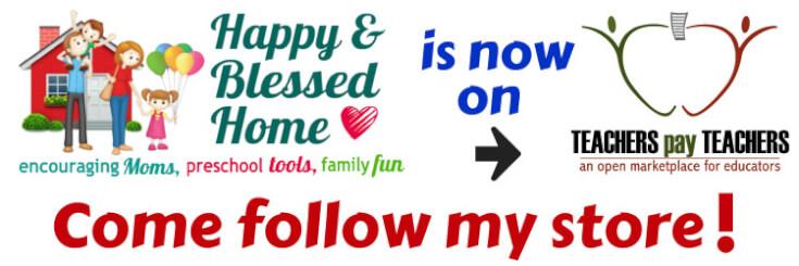 HappyandBlessedHome.com is now on TeachersPayTeachers - come follow my store!