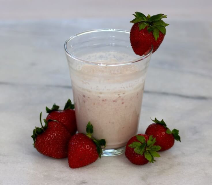 Tasty Vitamin B Energy Packed Strawberry Smoothie Recipe