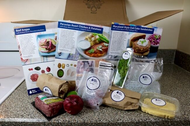 What you'll find inside a Blue Apron box