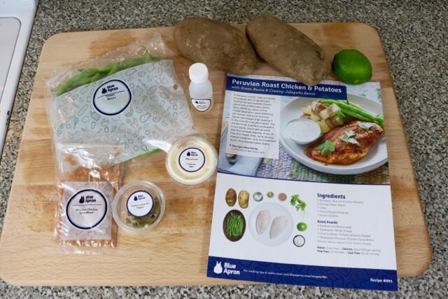 Ingredients for Blue Apron Peruvian Roast Chicken and Potatoes by HappyandBlessedHome.com