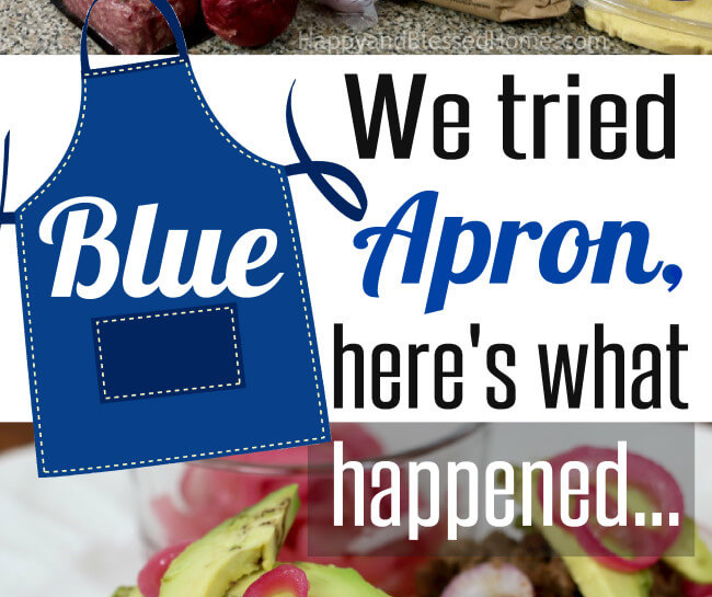 We tried Blue Apron and here is what happened - an informative review by HappyandBlessedHome.com