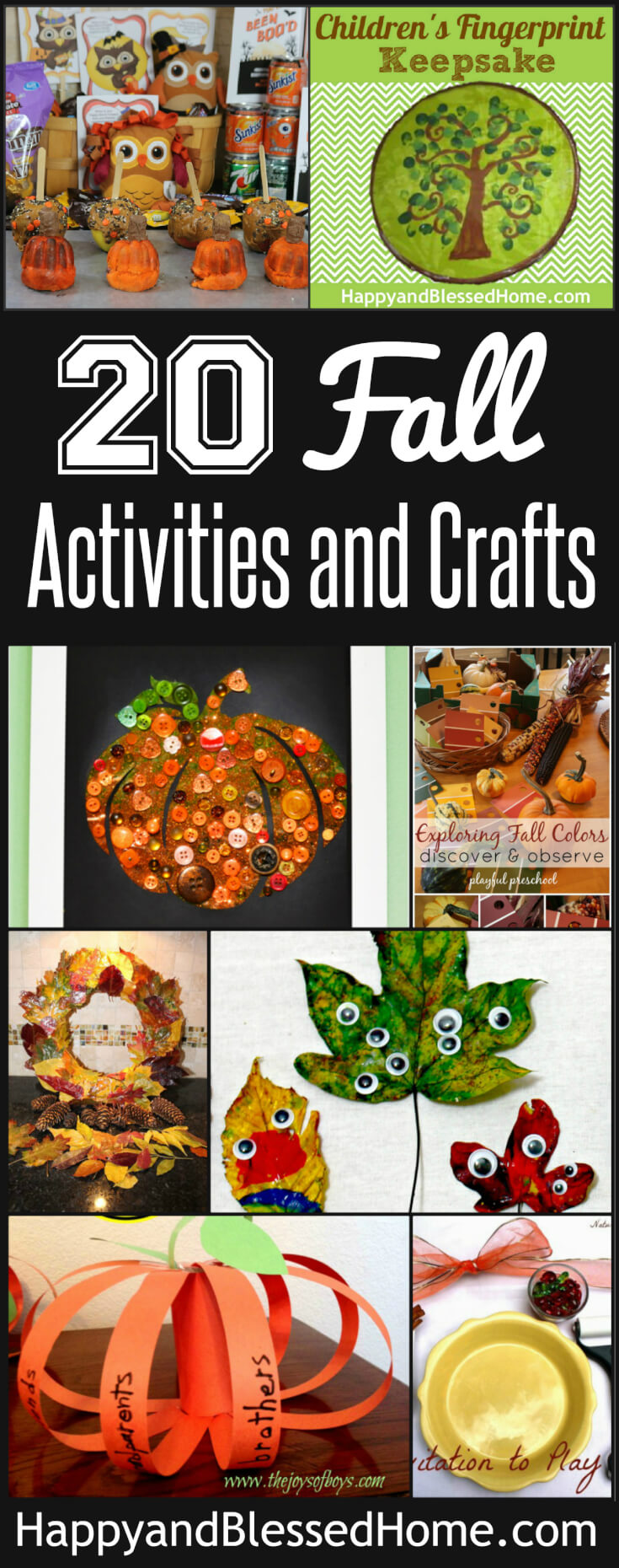 Looking for family fun crafts and activities for kids? You'll love this list of awesome ideas including 20 Fun Fall Activities and Crafts for Families.