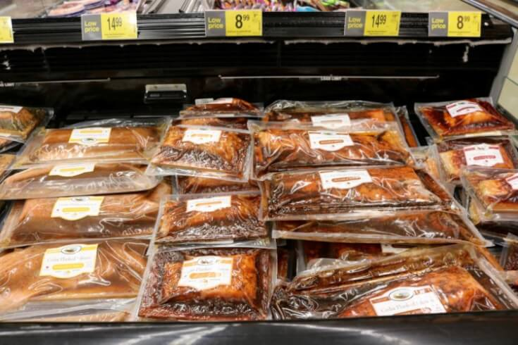 In the freezer at Kroger - 5 Tips for Easy Grilled Summer Veggies and Cedar Planked Salmon - Sweet and Spicy
