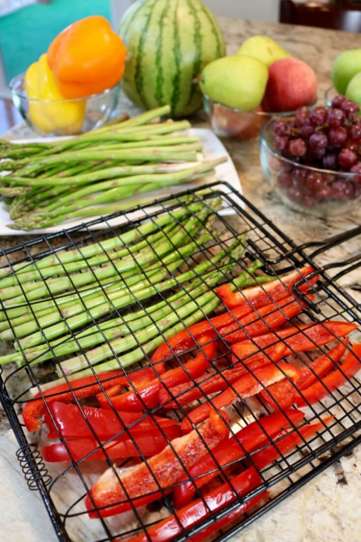 Veggies from From the produce section at Kroger - 5 Tips for Easy Grilled Summer Veggies and Cedar Planked Salmon - Sweet and Spicy