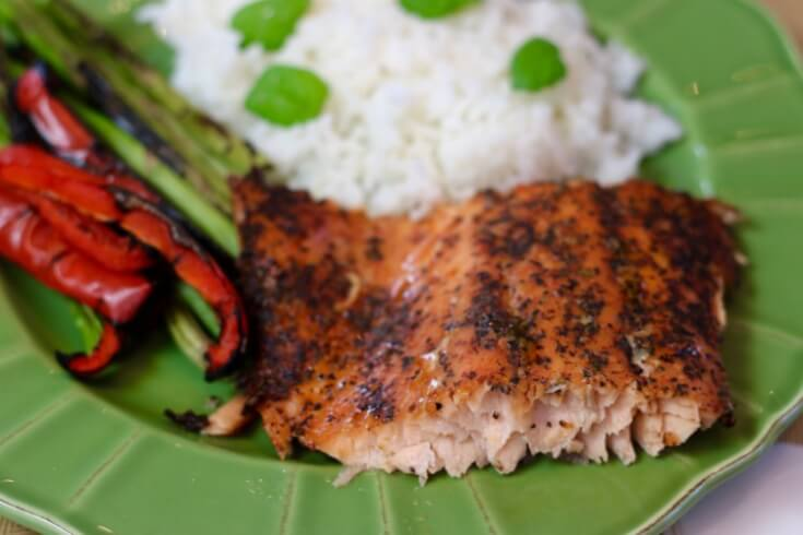 Cedar Planked Salmon - Sweet and Spicy