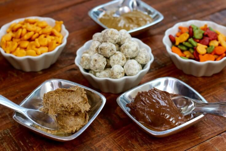 Make these High Protein Energy Bites with Almond Butter, Hazelnut Spread or a sunflower based nut butter