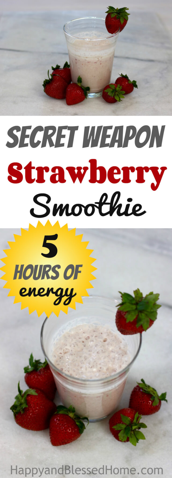 Ohhhh... Why didn't I think of this sooner - 5 Hours of Energy Strawberry Smoothie