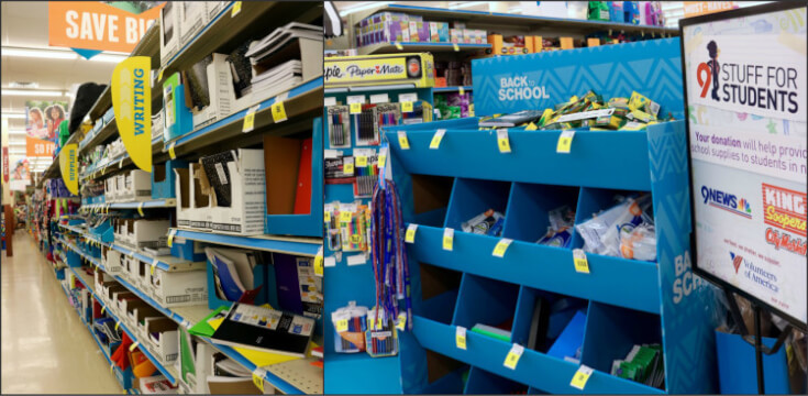 School Supplies at Kroger