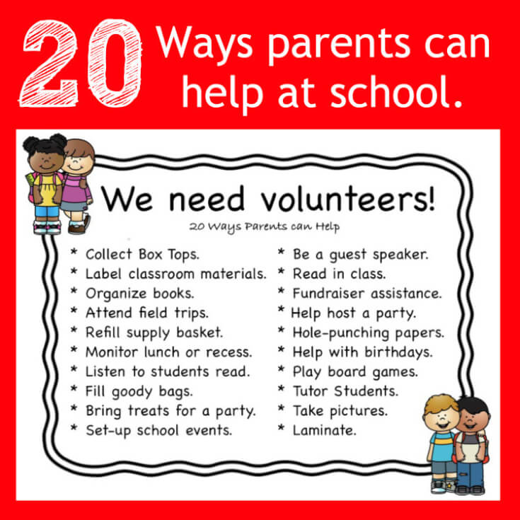 Square 20 Ways Parents Can Help at School