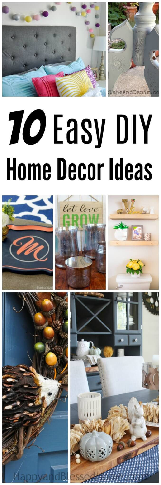 10 Easy DIY Home Decor Ideas