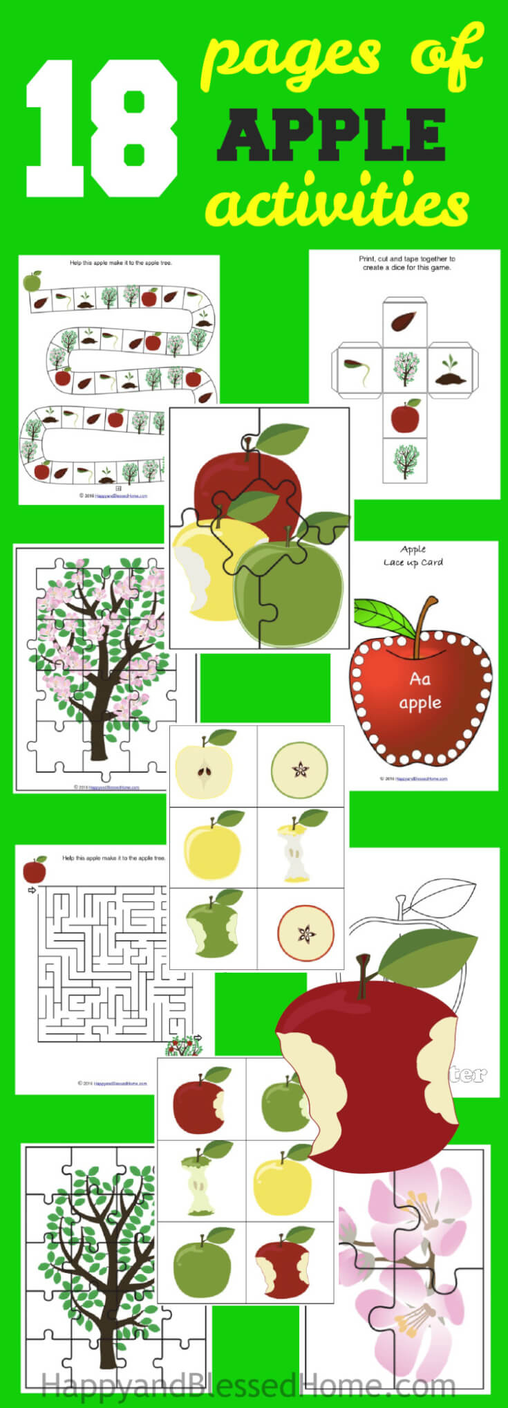 Apple Activity Pack from HappyandBlessedHome.com