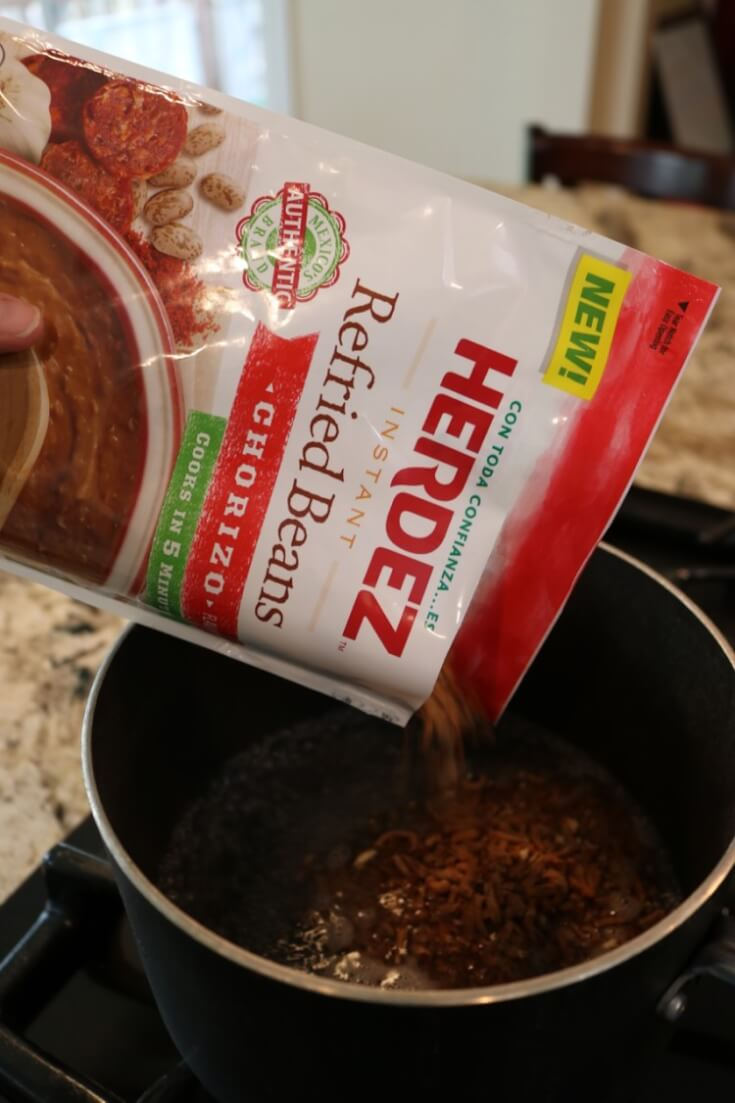 Quick, easy and Packed with Mexican flavors - HERDEZ Instant Refried Beans in Chorizo