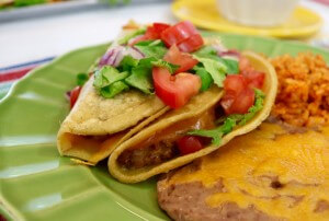 SOOOOO Good! Tasty Mexican Flavors with these Chorizo Refried Bean Tacos