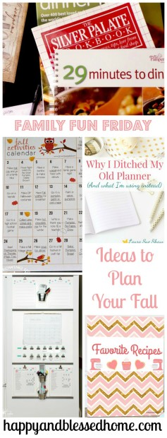 Ideas to Plan Your Fall Happy Blessed Home