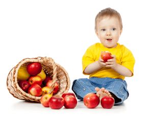 little-boy-eating-apples