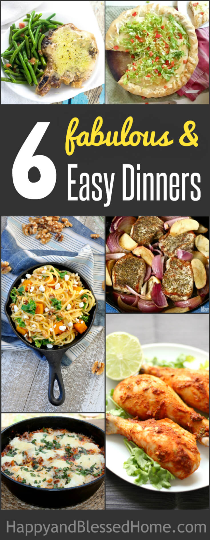 Six Fabulous Fall Dinners perfect for Family Meals