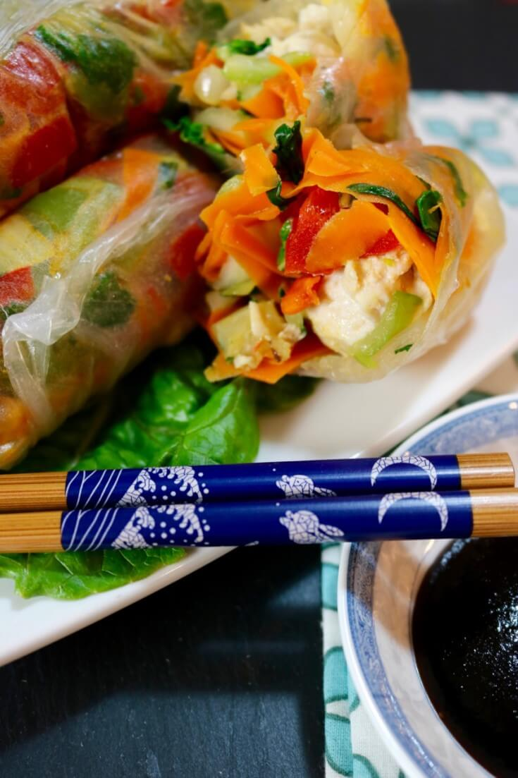 Vietnamese Spring Rolls with Chicken and Vegetables - easy recipe
