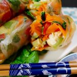 Vietnamese Spring Rolls with Chicken and Vegetables