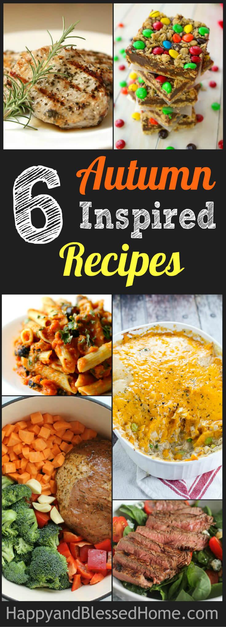 6 Autumn Inspired Recipes