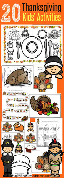 20-thanksgiving-kids-activities-big-time-fun-including-coloring-puzzles-matching-hats-and-placemat