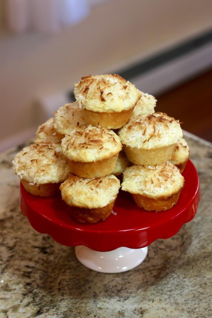 A Holiday Centerpiece from my Easy Recipe for Lemon Coconut Muffins