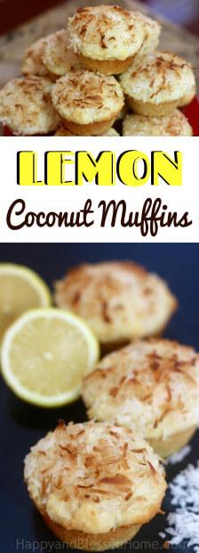 Easy Recipe for Flaky Lemon Coconut Muffins
