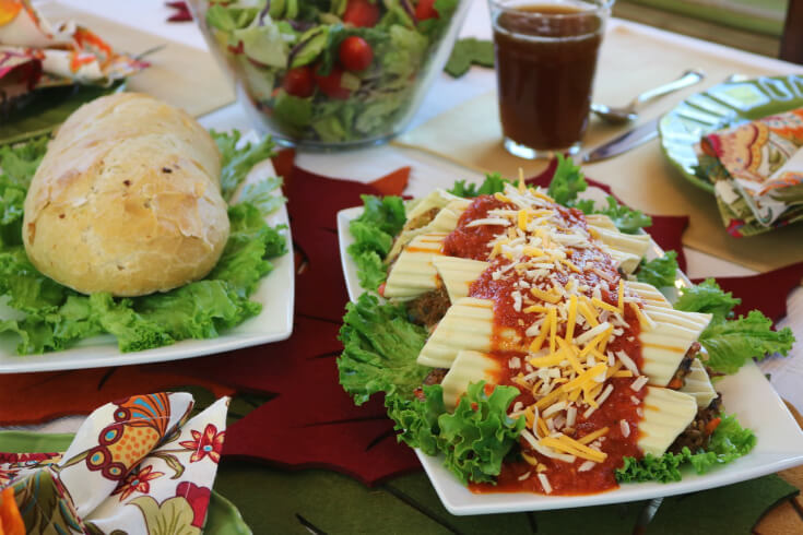 Homemade Garlic Bread and Meat Lovers Manicotti Recipe