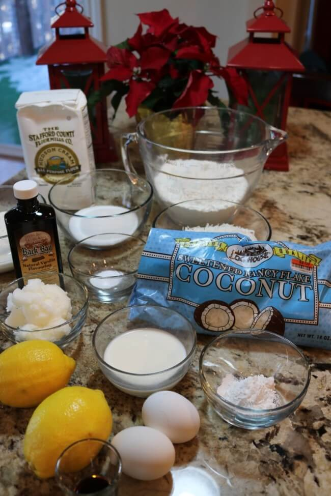 Simple ingredients from Big Lots for Lemon Coconut Muffins