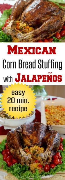 Mexican Corn Bread Stuffing with Jalapeños Recipe