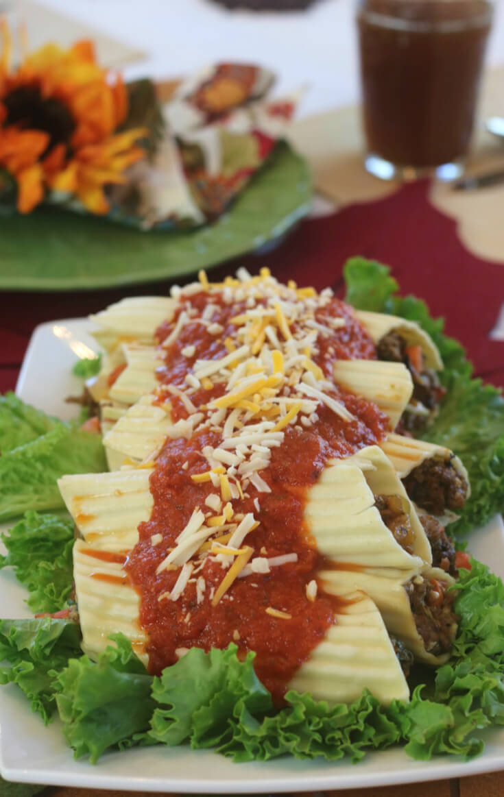 Packed with flavor - Meat Lovers Manicotti Recipe