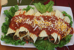 Rich PREGO sauce tops this tasty Meat Lovers Manicotti Recipe