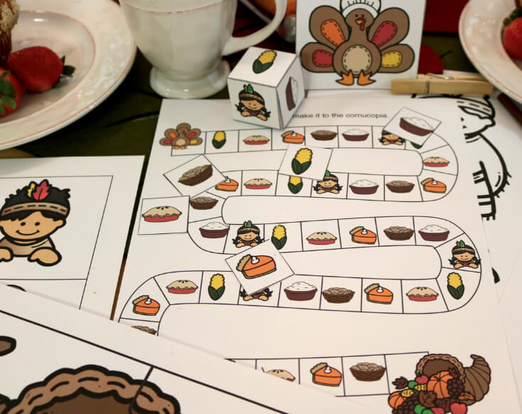 Roll the dice and enjoy this FUN Family Game - Thanksgiving Turkey Board Game