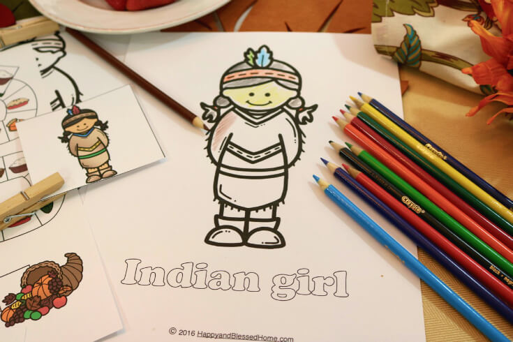 Thanksgiving Day Coloring Pages for Kids