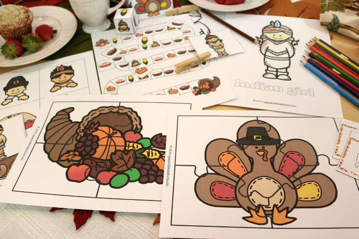 Thanksgiving Day Puzzles for Kids